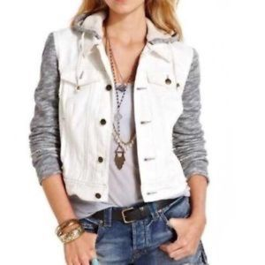 Free people denim sweater jacket